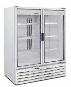 Refrigerador Expositor VB99r Metalfrio Porta de Vidro Dupla